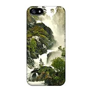 New Style TinaMacKenzie Hard Cases Covers For Iphone 5/5s- Waterfall Flowing