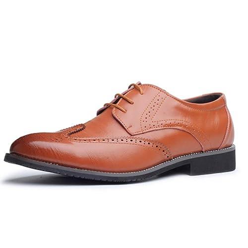 93f20cbef60 Zapatos de Vestir para Hombres Zapatos Oxford de Cuero de Estilo británico  para Hombres Zapatos con Cordones para Hombres de Negocios  Amazon.es   Zapatos y ...
