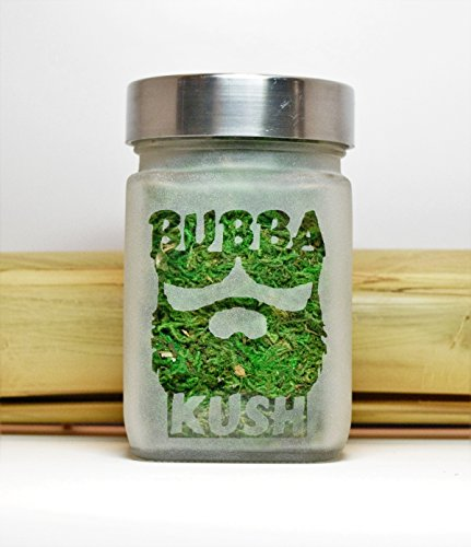 Bubba Kush Stash Jar - Stoner Accessories, Weed Accessories, Dispensary Weed Jars, Edibles Canister - Stoner Gifts, Weed Gift