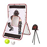 NET PLAYZ Smart Baseball Trainer Combo with 1 set Sport Radar, 3-Feet by 5-Feet Pitchback Rebounder Net and Pitching Target Panel with Carry Bag/1 Pc Baseball and Softball Included