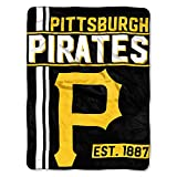 The Northwest Company MLB Pittsburgh Pirates Micro Raschel Throw, One Size, Multicolor