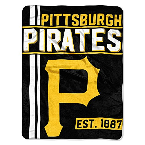 (The Northwest Company MLB Pittsburgh Pirates Micro Raschel Throw, One Size, Multicolor)