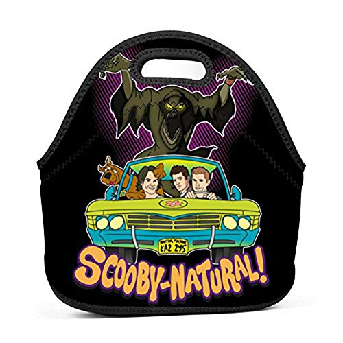 (WMCGMZE Lunch Bag Scoobynatural Gourmet Lightweight Cool Lunch Tote Bag Insulated Neoprene)