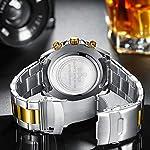 Mens Watches Chronograph Waterproof Analogue Quartz Watch Men Designer Stainless Steel Wrist Watch Date Fashion Watches…