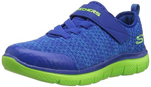 Skechers Kids Boys' Flex Advantage 2.0-Quick Jol Sneaker,blue/lime,2 Medium US Little Kid