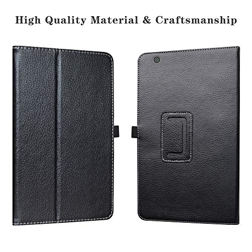 """Barnes & Noble Nook 10 (BNTV650) Tablet Case,LiuShan PU Leather Slim Folding Stand Cover for 10.1"""" Barnes & Noble Nook 10 (BNTV650) 10.1-inch Android Tablet PC,Black"""