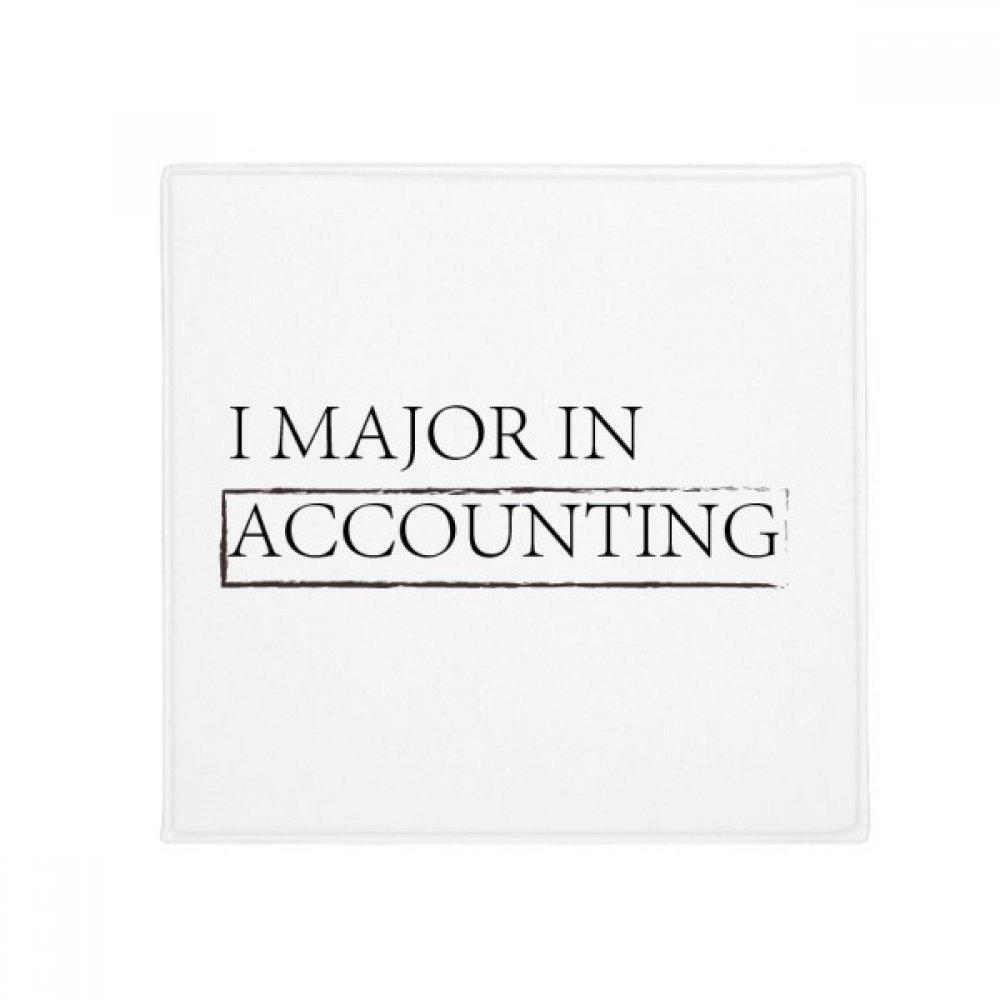 DIYthinker Quote I Major in Accounting Anti-Slip Floor Pet Mat Square Home Kitchen Door 80Cm Gift