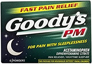 product image for Goody's PM For Pain With Sleeplessness 6 Powders Each (Pack of 3)