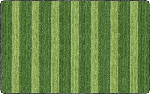Flagship Carpets FA1007-44FS Cozy Basketweave Stripes/Green, Green