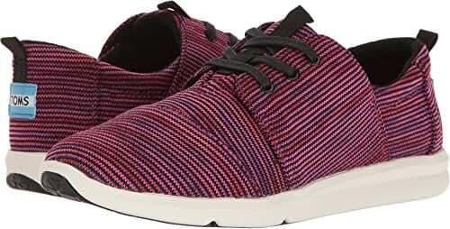 TOMS Women's Del Rey Sneaker Black Plum Multi Knit Oxford