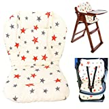 Twoworld Baby Stroller/Car / High Chair Seat Cushion Liner Mat Pad Cover Protector Breathable(Star)