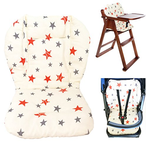 - Twoworld Baby Stroller/Car / High Chair Seat Cushion Liner Mat Pad Cover Protector Breathable(Star)