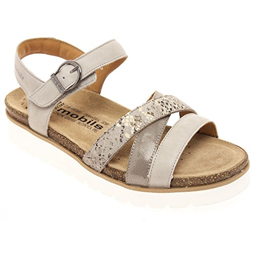 MOBILS MEPHISTO MUJER THINA, LIGHT GREY, STEVE 2605, SÁNDALO, MULTICOLOR