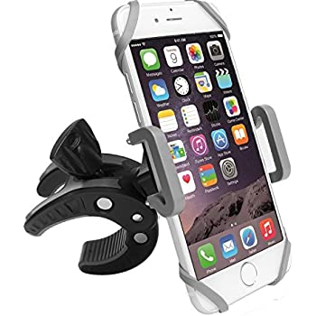 Bike Phone Mount Motorcycle Bicycle Holder, 360 Degree Rotatable Cell Phone Mount, Universal ATV, Bicycle Handlebar Holder for iPhone X 8/7/7Plus/6s/6Plus/5S, Android Smartphones