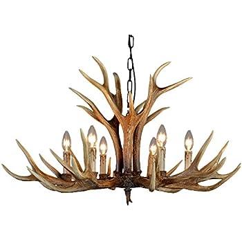 twelve light deer antler chandelier lighting 36in chain amazon