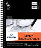 "Canson Artist Series Universal Sketch Pad, 9""X12"" Side Wire"