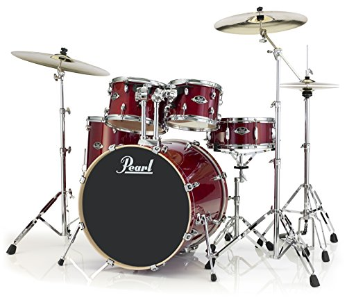 Pearl Export Lacquer EXL725S/C246 5-Piece New Fusion Drum Set with Hardware, Natural Cherry ()