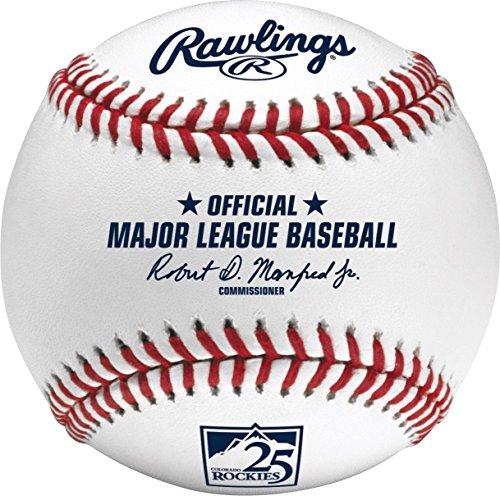 Rawlings Official Colorado Rockies 25th Anniversary MLB Game Baseball Boxed
