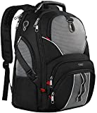 Travel Laptop Backpack, Large Computer Backpack Bag Fits 17 inch Laptop for Men Women for Hiking/School / College, Black TSA Smart Scan Bookbag with 9 Compartments Made of Water-Resistant Fabric