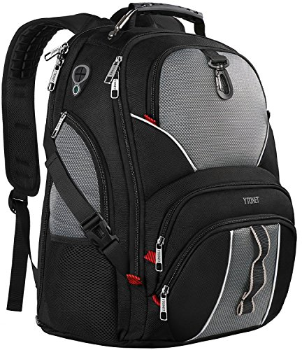 Travel Laptop Backpack, Large Computer Backpack Bag Fits 17 inch Laptop for Men Women for Hiking/School / College, Black TSA Smart Scan Bookbag with 9 Compartments Made of Water-Resistant (Travel Computer)