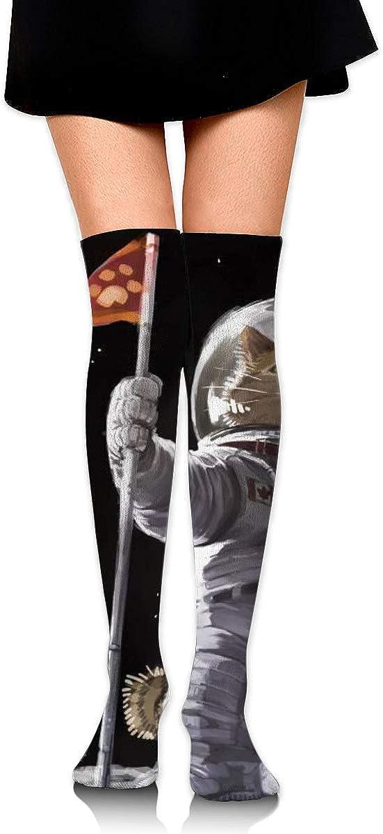 Kjaoi Girl Skirt Socks Uniform Earth Cat Astronaut Women Tube Socks Compression Socks