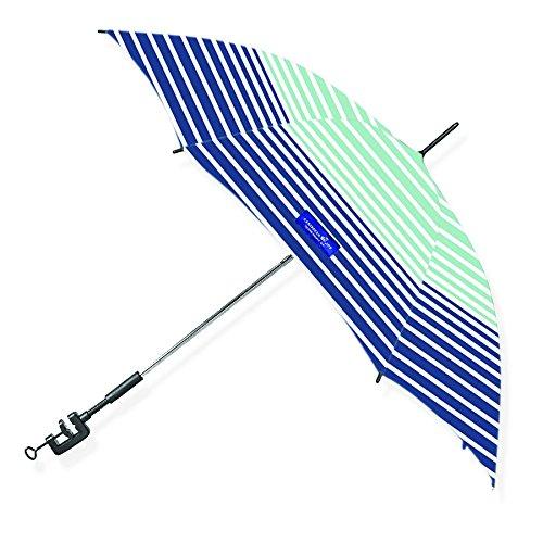 Stripe Beach Umbrella (Caribbean Joe CJ-48HS Clamp on beach umbrella with UV protection, Stripe, 48