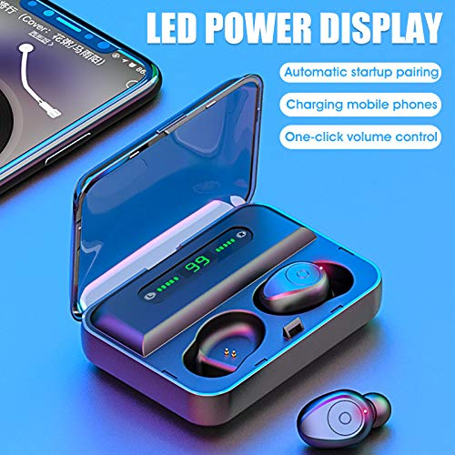 Bluetooth Wireless Earbuds with Charging Case Sweatproof Wireless Headphones Portable Charging Case Wireless Earbuds for iPhone, Android, and More Bluetooth Wireless Earbuds with Microphone