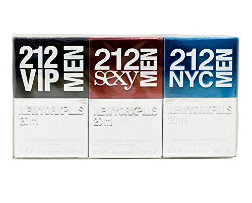 Carolina Herrera 212 Men New York Pills Gift Set 0.7oz (20ml) 212 VIP Men EDT + 0.7oz (20ml) 212 Sex