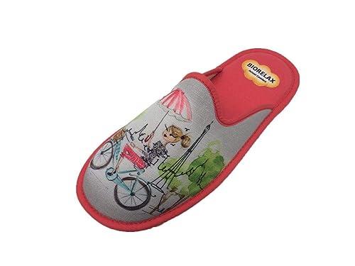 Zapatillas de Estar por casa/Mujer/Biorelax/Puntera Cerrada: Amazon.es: Zapatos y complementos