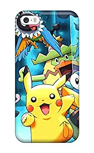 New Style ZippyDoritEduard Hard Case Cover For Iphone 5/5s- Pokemon(3D PC Soft Case)