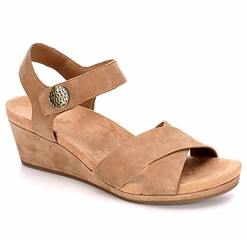 0d3eb43ea8fd7 B JORNDAL Bjorndal Womens Sadie Open Toe Wedge Heel Sandal Shoes ...