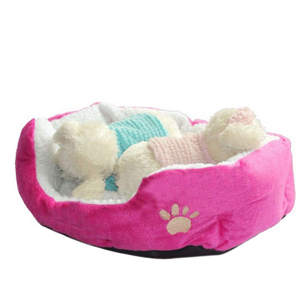 Doitsa 1Pcs Cama para Mascotas para Perro Gato Lindo Suave Cama de Perro de Forma Redonda Casa de Mascota (Gris, S): Amazon.es: Juguetes y juegos