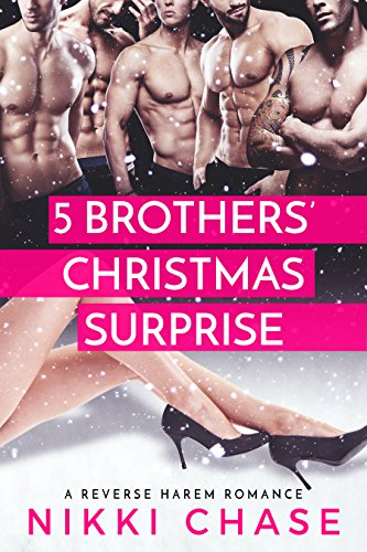 Five Brothers' Christmas Surprise: A Reverse Harem Romance cover