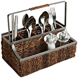 Woodard & Charles Abaca with Metal Trim Flatware Caddy