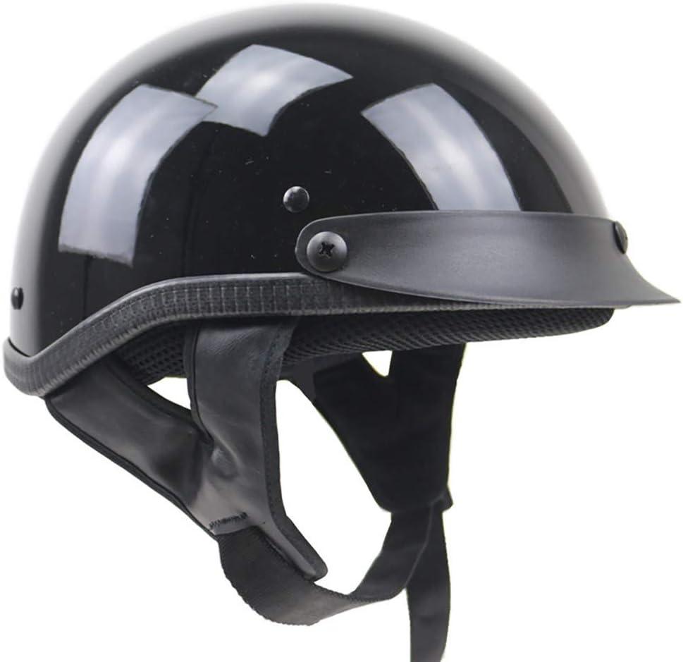 Braincap,Helmschale Aus ABS Waschbare Polster,Schnellverschluss,S~XXL Jethelm Motorradhelm Helm Motorrad Mopedhelm f/ür Damen Und Herren