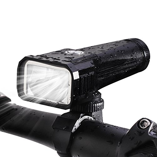 Autoor Bike Light, USB Rechargeable Bicycle Light Waterproof Powerful Flashlight Night Riding Equipments