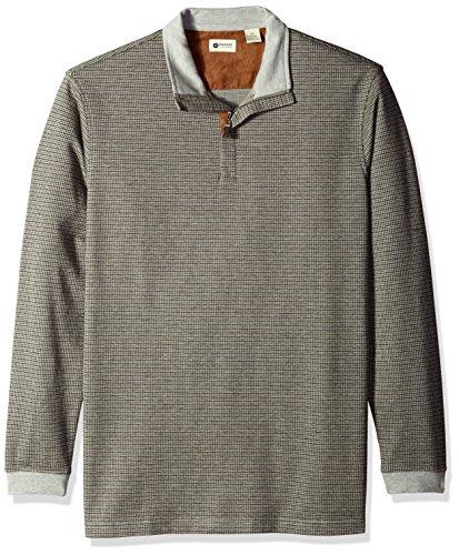 Haggar Big Tall Houndstooth Quarter Sweater