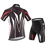 Men's cycling jersey and shorts set ,short sleeve with 3D Pad