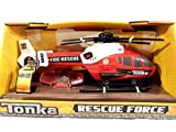 Tonka Rescue Force Fire Rescue Helicopter Red And White