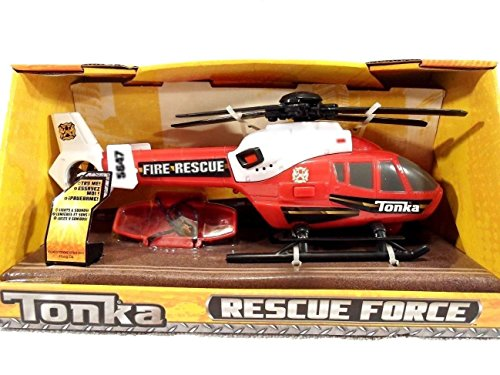 Tonka Rescue Force Fire Rescue Helicopter Red And White (Helicopter Tonka)