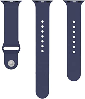 Watch Silicone Band for apple Smart Watch, 40mm, Dark Blue