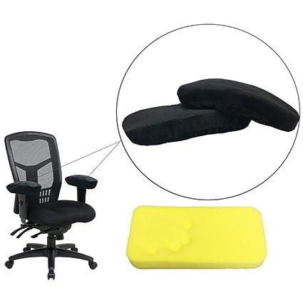 Amazon Com Adjustable Office Chair Arm Pads Memory Foam Armrest Pad