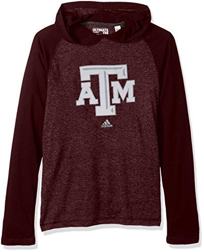 Aggies Mens Watch (adidas NCAA Texas A&M Aggies Adult Men School Logo Climalite Ultimate L/S Hood,X-Large,Maroon)