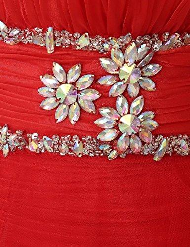 Sera Tulle Delle Di Hi Perline Da Vestito Di Prom Donne lo Menta Cristallo Dobelove XgAPqx
