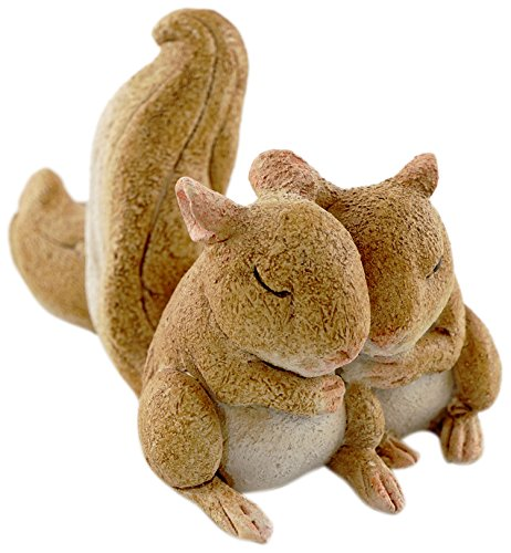 Top Collection Miniature Fairy Garden and Terrarium Statue, Sleeping Squirrels, 1.5-Inch by 2.75-Inch