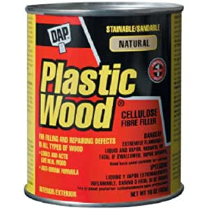 Dap 21506 plastic wood filler 16 ounce exterior wood filler for Exterior wood filler paintable