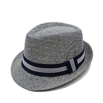 ef693455c4e20 Sunny Baby Verano Mujeres Hombres de Lino Sombrero de Playa Sombrero de ala para  Dama Elegante
