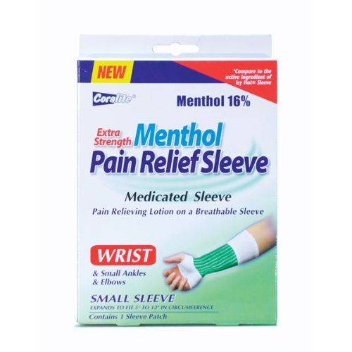 Extra Strength Menthol Pain Relief Wrist Sleeve Bulk Case of 24 (Icy Hot Sleeve)