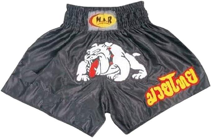 Kick Boxing /& Thai Boxing Shorts Kickboxing Bottoms MMA Pantalones Boxeo Ropa de Boxeo Muay Thai K1 Gear Poli/éster Tela de sat/én Azul//Negro Ni/ño Peque/ño//X-X Peque/ño M.A.R International Ltd