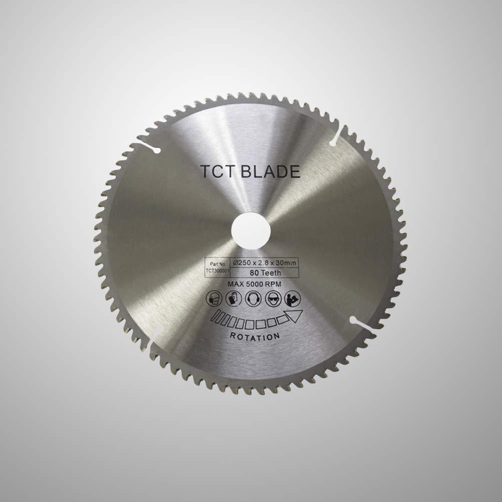 OUNONA 250 x 2,8 mm Disco de Corte de pl/ástico para Sierra Circular 80 Dientes TCT.